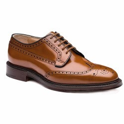 church's derby cuir gold