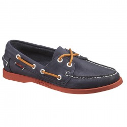 sebago docksides navy/red