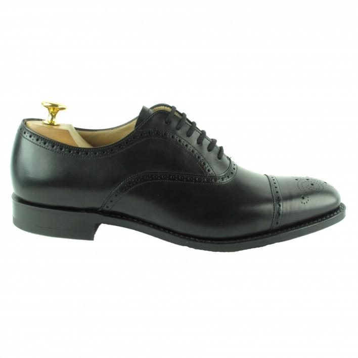 chaussures-santoni-richelieu-fleuri-marron