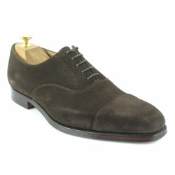 crockett and jones richelieu velours