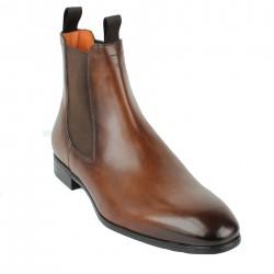 santoni boots semelle gomme