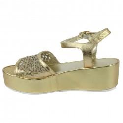 inuovo sandale à plateau or