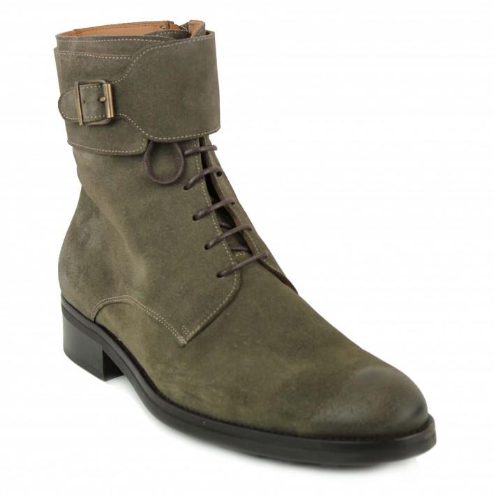 jefferson boots lacées beige