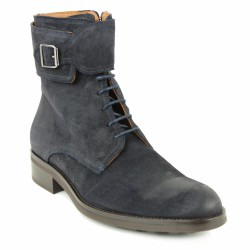 jefferson boots velours bleu