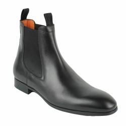 santoni chelsea boots noires