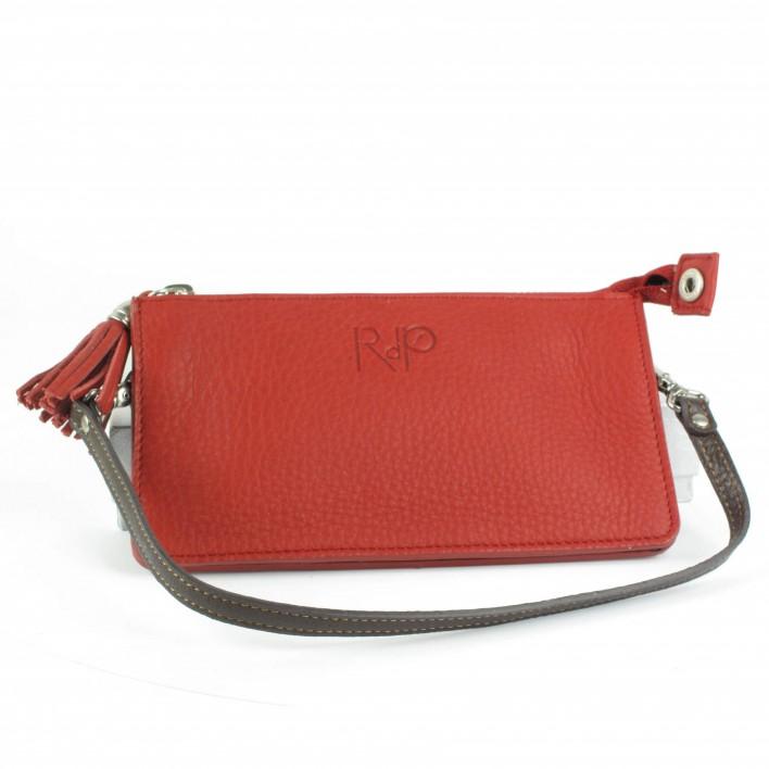 rdp pochette cuir rouge
