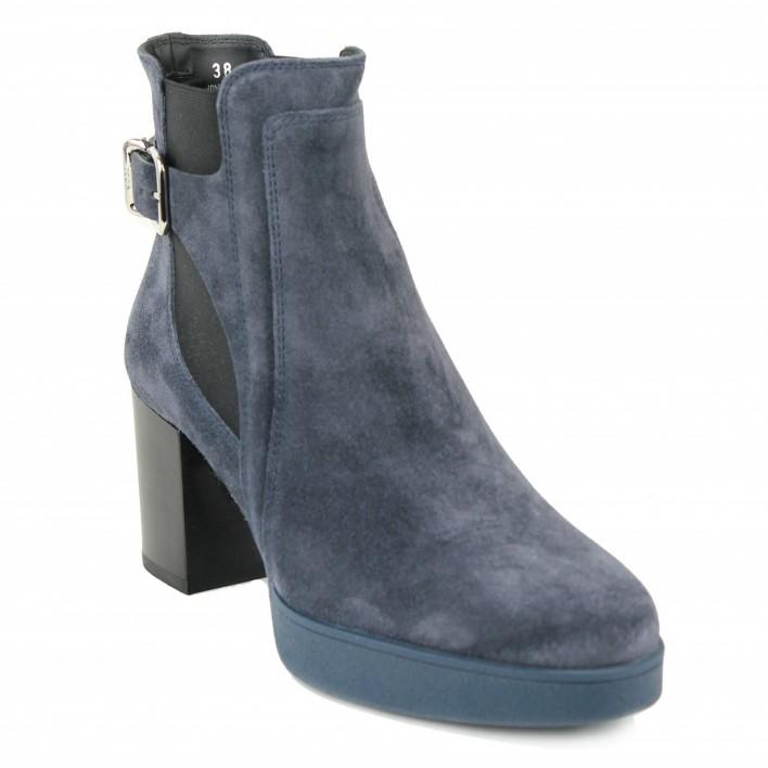 tod's boots à boucle bleu