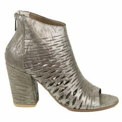 progetto boots ajourées grises