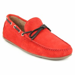 jefferson mocassin velours rouge