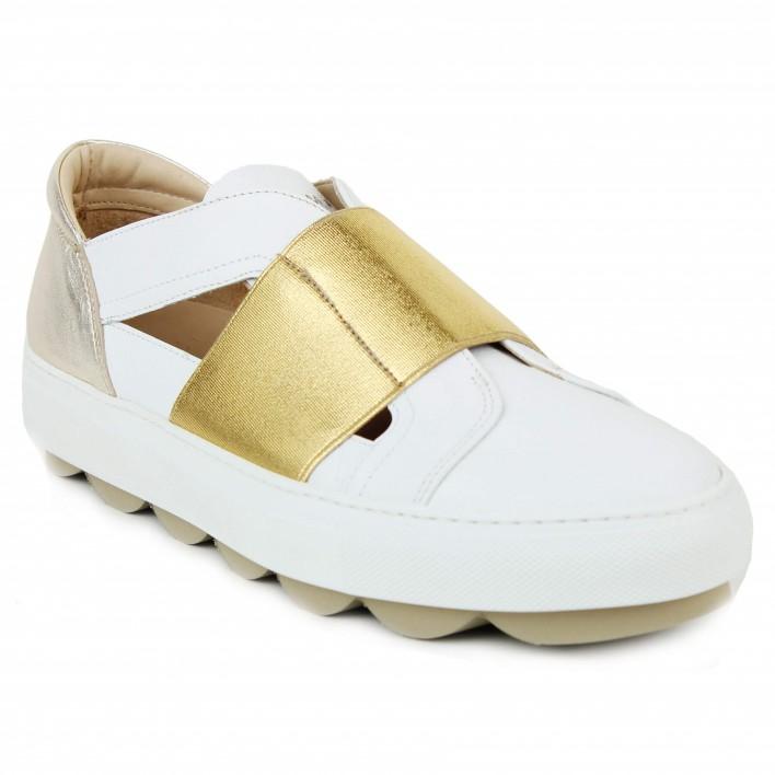 maimai sneakers élastique or