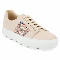 maimai sneakers nude à perles
