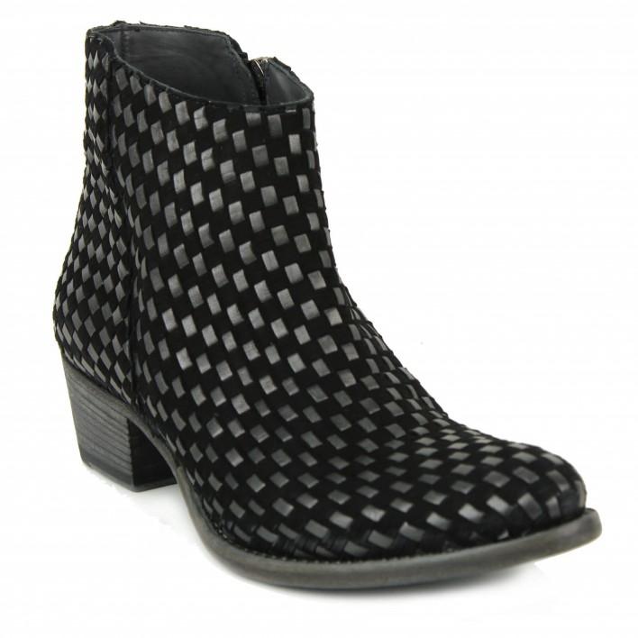 pantanetti boots tressées noires