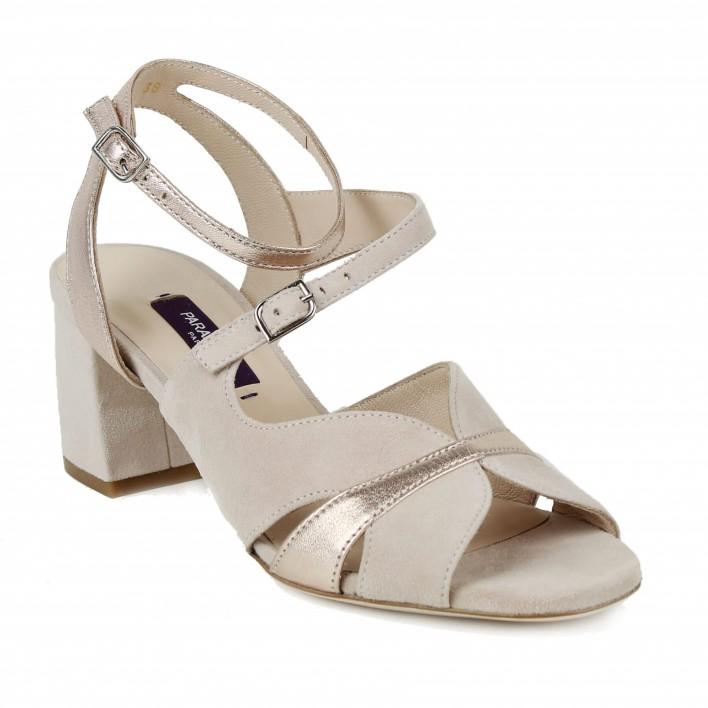 parallele sandale rose poudré
