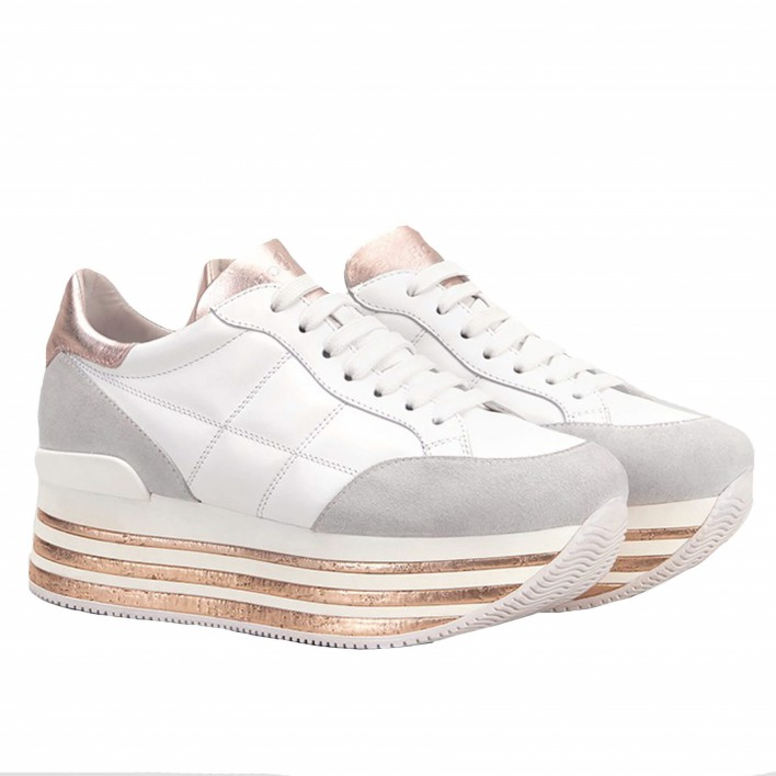 hogan maxi sneakers blanches