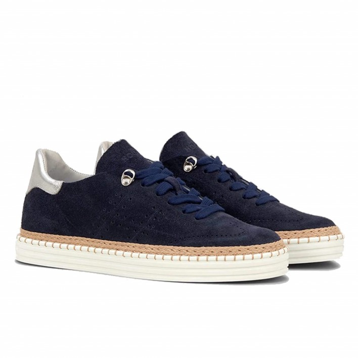 hogan sneakers velours marine
