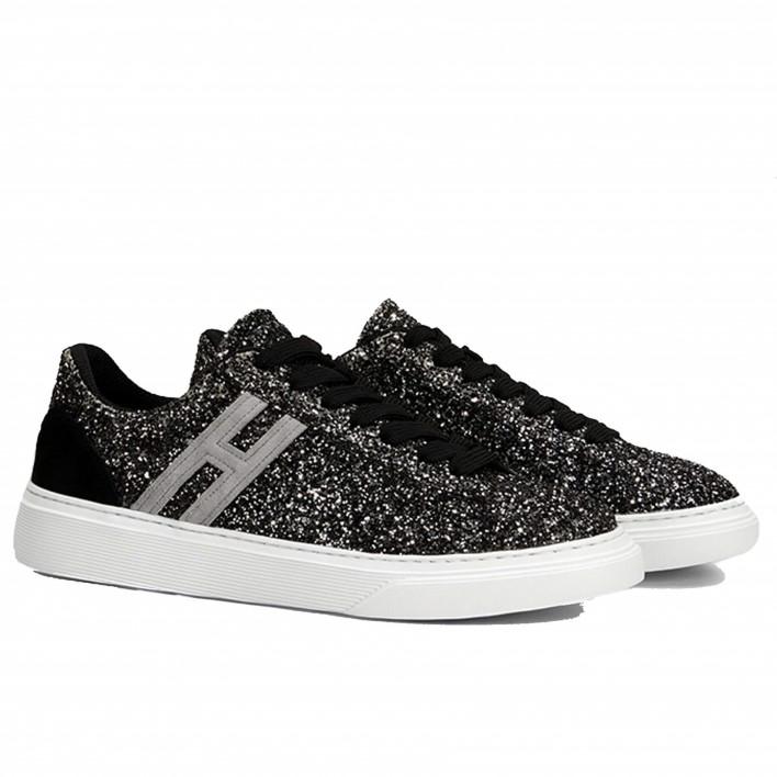 hogan sneakers paillettes noires