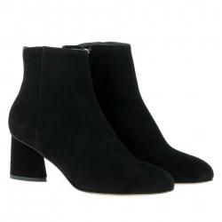 parallèle boots velours noir