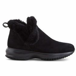 hogan boots fourrées noires