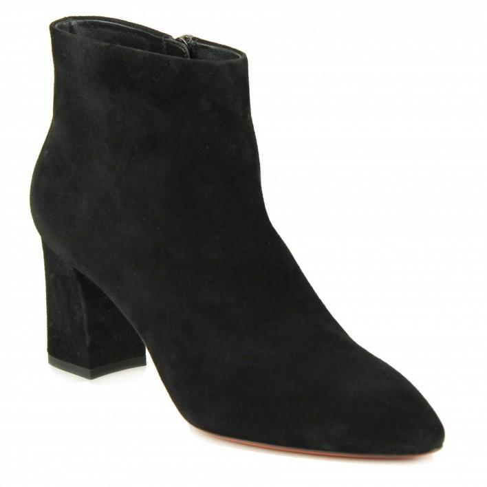 santoni boots velours noir