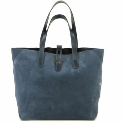 hogan grand sac velours bleu