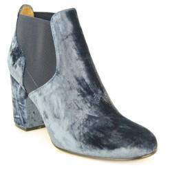 atelier voisin boots velours moiré bleu