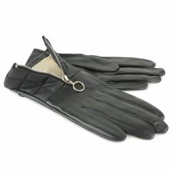 aristide gants cuir doublés soie