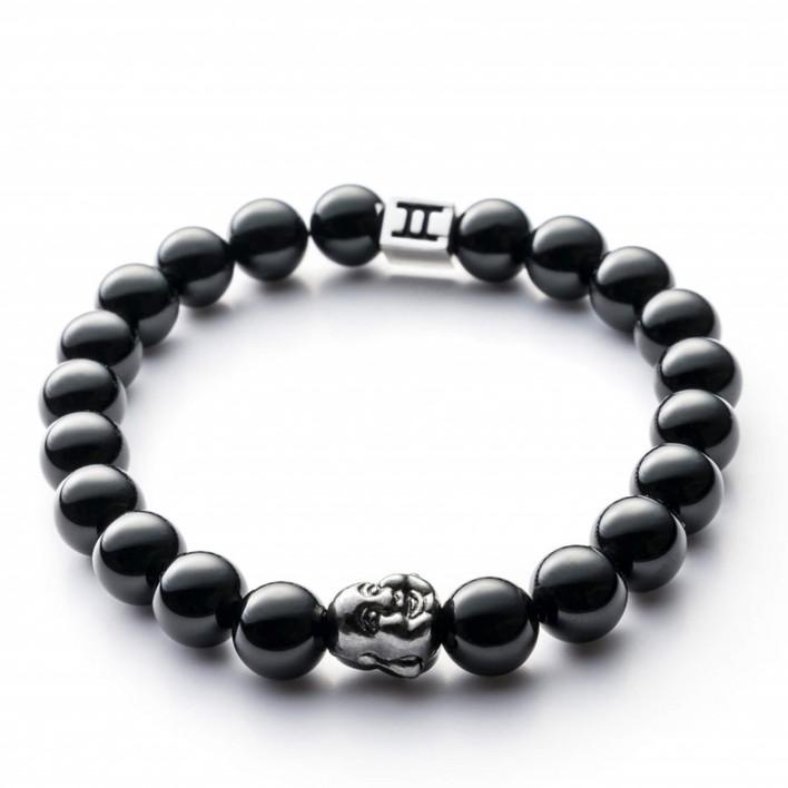 gemini bracelet buddha noir