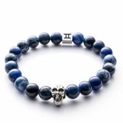 gemini bracelet bleu tête