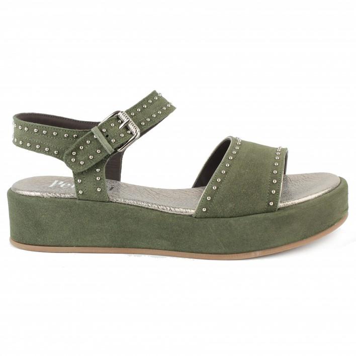 pertini sandales veloursi à clous