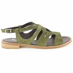 pertini sandale velours kaki