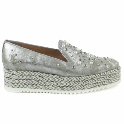 pertini slippers argent perles