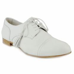 pertini richelieu cuir blanc