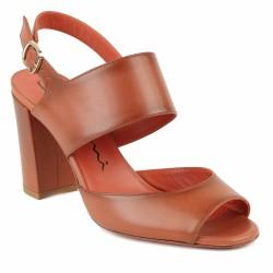 santoni sandale à talon gold