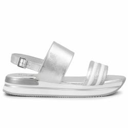 hogan sandales argentées