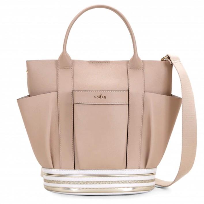 hogan sac shopping beige