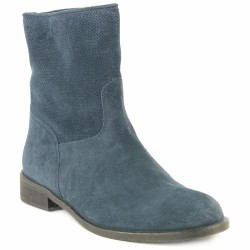 progetto bottines velours bleu