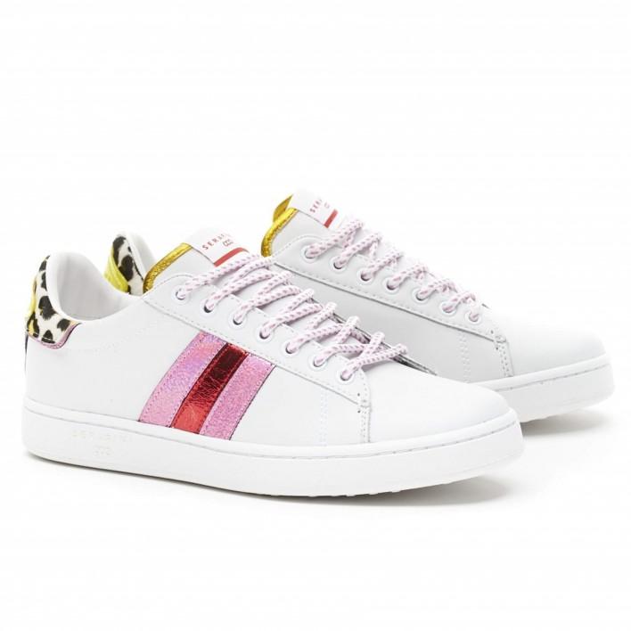 serafini sneakers leopard rose