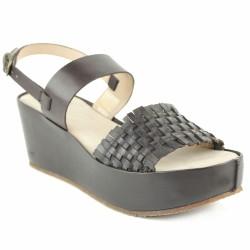 palladium sandale tressée marron