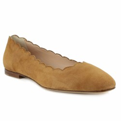 triver flight ballerine velours beige