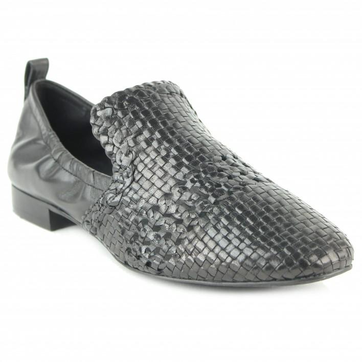 what for slippers tressés noir