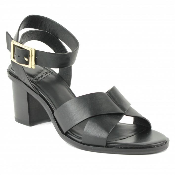 what for sandale à talon noire