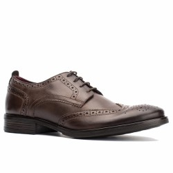 base london derby cuir marron