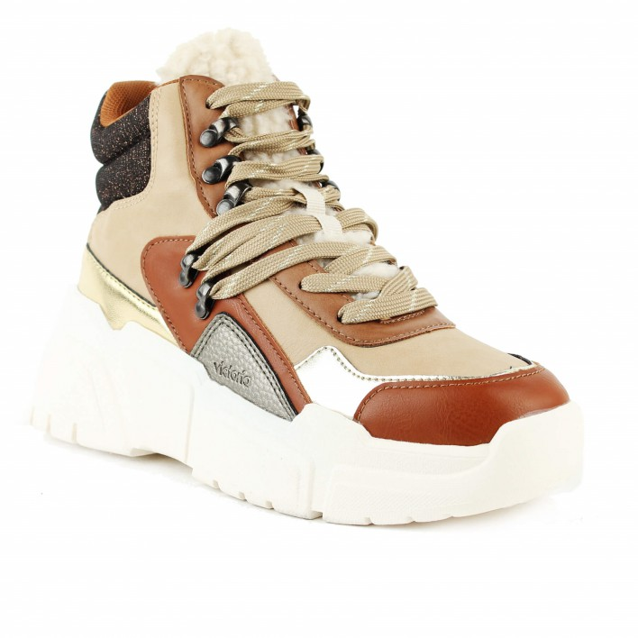 victoria sneakers montantes camel