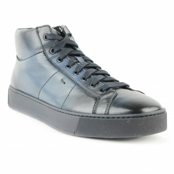 santoni sneakers montantes marine