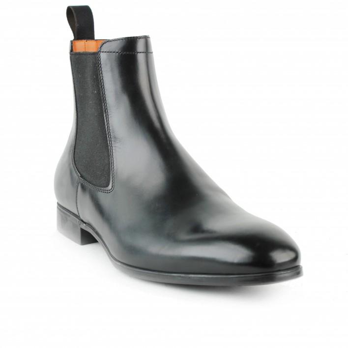 santoni chelsea boots noir