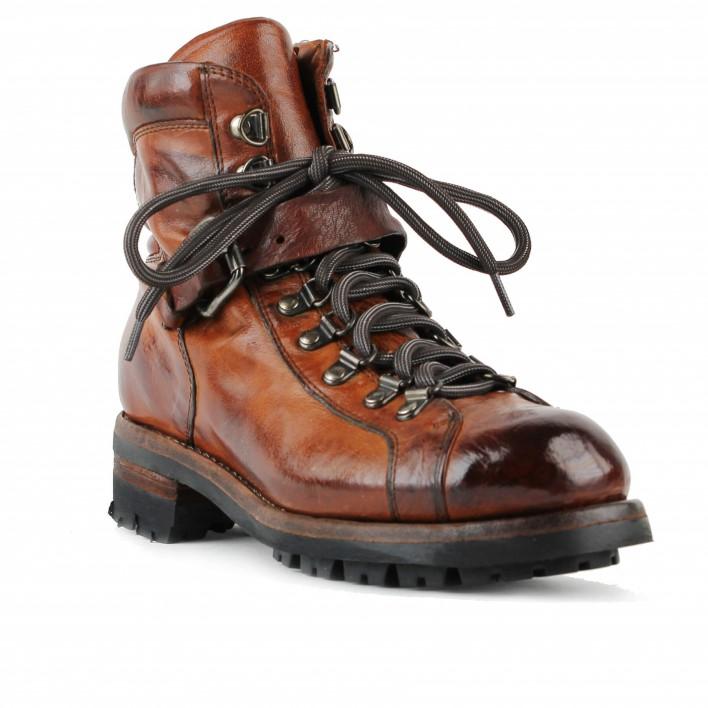 lemargo boots lacées cuir marron