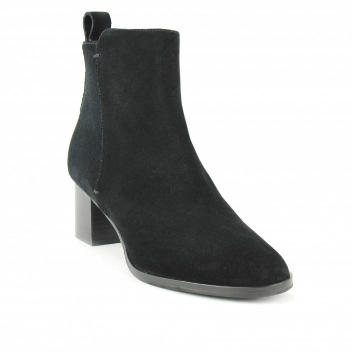 parallele boots velours noir