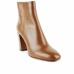 santoni bottines cuir camel