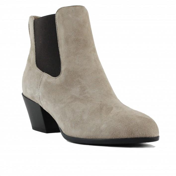 hogan chelsea boots velours beige