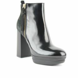 hogan boots à talons noir